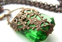 Green like emerald / Green - my favourite color, my passion!  / by Liene Creations