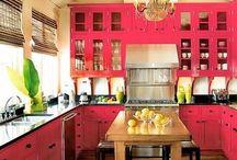 Pink kitchen / by Sarah Frederick
