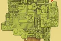 Leer, libros, lectura / Tablero que recopila imágenes para el fomento de la lectura. Books, reading. Board with pins which promote reading / by Bibliotecas de Zaragoza