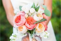 Coral Wedding Flowers / by BloomsByTheBox.com