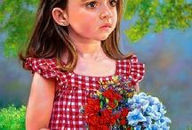 Paintings of children 4 / by Penny Valadez