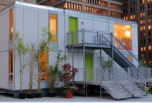 Shipping Container Alternative Re-use Homes Buildings / Use of a discarded shipping container or old barn grain silo provides you with a seriously-safe new home and also means less wood/trees will be consumed. Go green!  / by Patricia Loya