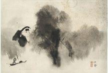 Ink,  sumi-e, pintura oriental / by Regine Sahmel