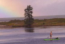 Yolo Boarding at Cabot Shores / We have a great water playground where you can safely learn stand-up paddling and kayaking.  / by Cabot Shores Wilderness Retreat