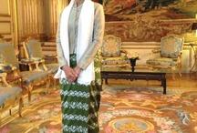 Aung San Suu Kyi / The fashion and style of Burmese Leader Aung San Suu Kyi. / by Suu P