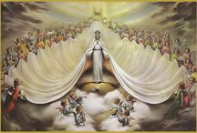 """Mary Queen Of Heaven / Our Blessed Mother.  Lady of the Rosary. """"What a joy to remember that she is our Mother! Since she loves us and knows our weakness, what have we to fear?"""" - Saint Therese of Lisieux / by Donna Capano"""