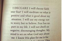 faith not fear / by Caryn Rowland