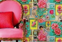 Living In-Color  / Whimsical furniture. Mixed media, bright floral fabrics.  / by Dana Loraine