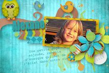 Kastagnette designs kits - Digiscrap'isa's layouts / My pages made with Kastagnette kits / by Isabelle Pinet