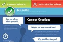 Infografías sobre LinkedIn, trabajo o empleo / Infografías con información sobre redes sociales profesionales como Linkedin o datos para conseguir trabajo o empleo. / by Carlos Chen