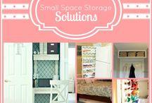 Small space storage / by Betsy Feldmann