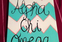 Alpha Chi Omega / by Kaitlin Sullivan