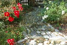 outside rooms , paths and design ideas / by Linda Upton