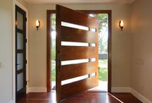 Contemporary Doors / Contemporary are becoming very popular today. They are striking in their straight lines and geometric shapes in both lites and panels. For exterior and interior use, they are just right for contemporary or modern homes or can provide a modern touch to an older style home. Some doors have an abstract art feel to them. #dorornmore #exterior door #interior door #style #beautiful #art #doorart / by US Door & More Inc.