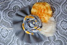 Fabric flowers / by Julie Geiger - WoolFeltCentral