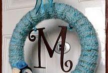 Wreaths / Whether I make them or not, I love wreaths! I do sell my handmade wreaths in my etsy shop: melanieswartz.etsy.com / by Melanie Swartz