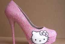 Hello kitty shoes / by Kitty White