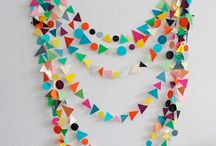 Paper garlands & bunting / by Penny D