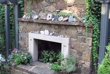 outdoor fireplaces / by Cyndie Duhan