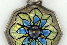 Scandinavian Guilloche Jewelry / A hobby of mine - collecting vintage and antique pieces that are like tiny works of art. Norway and Denmark were major hubs for enamel work. / by Jennifer Ritter