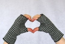 hand knit fingerless mitts / by Amanda Lilley