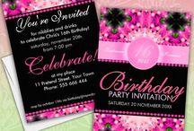 Birthday Party | Invitations / Customizable Birthday party invitations for all ages / by Webgrrl.Biz