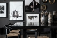 Bachelor Pad || Home / ☮ Dark, brooding and reverse neutral decor - not for the faint-hearted ☮ / by Sweet Elyse ☮ Blog ☮