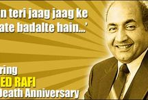 Remembering Mohammed Rafi on his 33rd death anniversary / A tribute to legendary playback singer Mohammed Rafi on his death anniversary / by glamsham