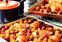 Pin-eat / Food glorious food - bake it, grill it, roast it, fry it, boil it or BBQ it. Hot, cold, sweet, savoury, healthy, fattening, family fodder, entertaining, cheap, quick, fresh, frozen and preserved.  Love it all. / by Maria Bridson