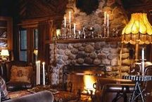 Fireplaces / by Peggy Singleton-Parise