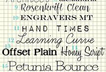 fonts / by Krisha Hinkle