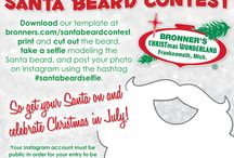 Santa Beard Contest 2014 / Enter our Santa beard contest to win a $50 gift certificate from Bronner's CHRISTmas Wonderland! / by Bronner's CHRISTmas Wonderland