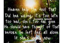 Country Lyrics / by Danielle Williamson