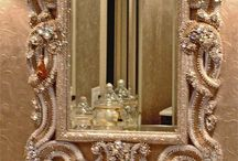 ~ Mirror Mirror On The Wall Love ~ / ~ There is something special to me about mirrors, especially vintage mirrors...I can hardly pass up a beautiful mirror! ~ / by Misty Dennie