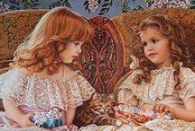 children in art / by Brenda Britt