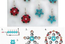 Beaded Flowers / Beaded flowers designs and instructions.  / by Angela Orthner