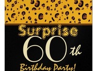 Birthday Parties - SURPRISE - 60th SURPRISE Birthday Party! / To see more 60th birthday party selections, check out www.zazzle.com/60th_birthday_party*/ or www.zazzle.com/jaclinart*/ / by JaclinArt