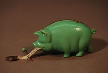 """I'm GREEN With.... / Most people are green with envy over our collection. Here are some of our green artifacts. The objects refer to """"green,"""" which could mean the color, the environment, money, ect.  / by Smithsonian's National Museum of American History"""