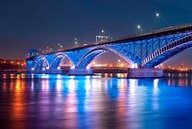 Peace Bridge Buffalo, NY to Canada. / by Karen Clontz-Patterson
