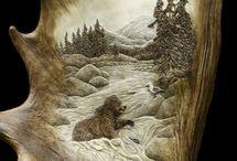 Antler, Horn, and Head Carvings / by Sherri Laffertydecker-Marin