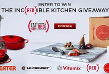 EAT (RED). DRINK (RED). SAVE LIVES. / Vitamix has teamed up with (RED), Eater, Le Creuset and Plated to offer an Inc(RED)ible Kitchen #Giveaway! Enter for your chance win at: http://f.curbed.cc/f/Vitamix_IncredibleKitchen_051614.  For more information on EAT (RED). DRINK (RED). SAVE LIVES. visit: www.red.org / by Vitamix