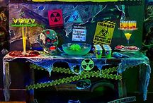 Zombie Apocalypse Halloween Decorating Ideas / The undead have woken...and they're looking to party! Survive the apocalypse with our kit of party tips! With radioactive bar ideas to survivor-approved decorations for your porch & mantel, everyone will be infected by zombie party fever! / by Party City