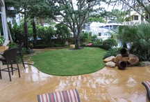 Backyard Patios by Waterfalls Fountains & Gardens Inc. / by Waterfalls Fountains & Gardens Inc.