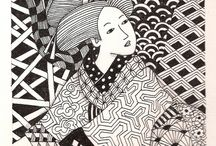 japanese zentangle / by Nathalie Remy