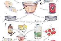 Delicious Illustrations / Illustrated food and recipes / by Anais Lee Creative
