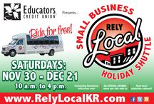 RelyLocal Small Business Holiday Shopping Shuttle / Educators Credit Union Presents...The RelyLocal Small Business Holiday Shuttle for Racine & Kenosha......FREE Shuttles connecting the Downtowns and areas west .....Every dollar you spend with a Racine or Kenosha business stimulates our local economy! Local businesses will be offering deals exclusive for shuttle riders. Runs 4 Saturdays Starting Nov. 30th Get on the Shuttle and enjoy your Holiday Shopping Nov 30th- Dec 21st from 10:00 am - 4:00 pm! / by Nick RelyLocal