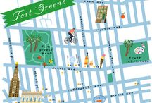 // ILLUSTRATED MAPS / by Julie Whereorwhat