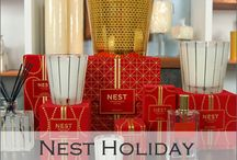Nest Holiday Candle Collection / The Nest Holiday candle offers the most spot on holiday fragrance with a blend of pomegranate, Mandarin orange, pine, cloves and cinnamon with a hint of vanilla and amber. Nest Holiday is available in candles, diffuser and room spray. / by Candles Off Main