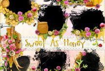 Sweet As Honey / A super sweet honey themed scrapbook kit filled with lots of wonderful bee and honey embellishments, papers, and more. / by Raspberry Road Designs