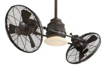 """FAN """"DAMONIA"""" /  A unique collaboration of ceiling fans, fandaliers, table fans, portable fans, and wall fans.  Traditional, transitional, contemporary, industrial, rustic, and modern.  Wood, metal, retracting, single blade and multi-blade versions.  Fans with chandelier lighting, available light kits, shade and blade replacements, ceiling medallions, and more design features. Choose from indoor or outdoor fans.  Cool off with one of these diverse fan selections!! / by Homeclick.com"""